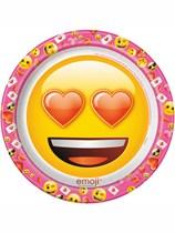 Valentine's Day Emoji Paper Plates 8pk