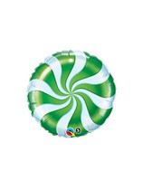 "Green Candy Swirl 9"" Foil Balloon"