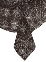 Halloween Black Spiderweb Plastic Tablecover