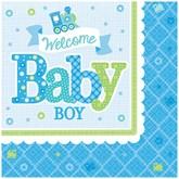 Welcome Baby Boy Luncheon Napkins