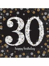 30th Birthday Gold Celebration Luncheon Napkins 16pk