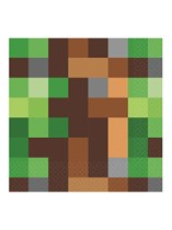 TNT Party Pixel Minecraft Lunch Napkins 16pk