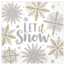 Christmas Let It Snow Lunch Napkins 16pk