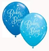 """Asst. Blue Baby Boy 11"""" Latex Balloons 25pk"""