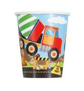 Construction Trucks 9oz Paper Cups 8pk