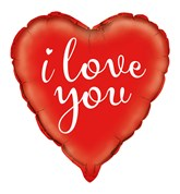 "I Love You Red 18"" Heart Foil Balloon"