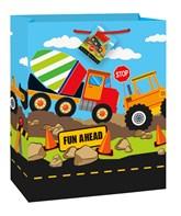 Construction Trucks Large Gift Bag