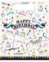 Doodle Birthday Party Bags 8pk