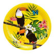 Tropical Party Toucan 23cm Paper Plates 6pk