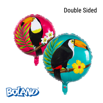"Tropical Party 2-Sided Toucan 18"" Foil Balloon"