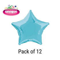 "Pastel Blue 20"" Star Shaped Foil Balloons 12pk"
