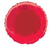 """Single 18"""" Red Circular Foil Balloon"""