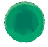 """Single 18"""" Green Circular Foil Balloon"""