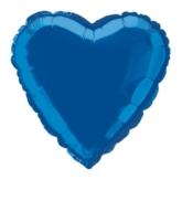 """Single 18"""" Royal Blue Heart Shaped Foil Balloon"""
