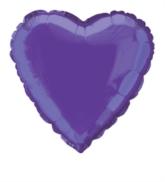 "Single 18"" Deep Purple Heart Shaped Foil Balloon"