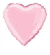 "Pastel Pink 18"" Heart Shaped Foil Balloon"