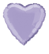 "Single 18"" Lavender Heart Shaped Foil Balloon"