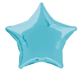 "Single 20"" Baby Blue Star Shaped Foil Balloon"