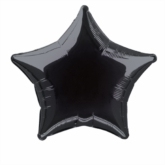 "Single 20"" Black Star Shaped Foil Balloon"