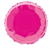 "Single 18"" Hot Pink Circular Foil Balloon"