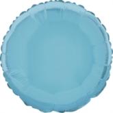 """Single 18"""" Baby Blue Circular Foil Balloon"""