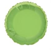 """Single 18"""" Lime Green Circular Foil Balloon"""