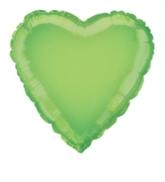 """Single 18"""" Lime Green Heart Shaped Foil Balloon"""