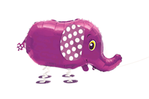 Walking Pet Elephant Foil Balloon