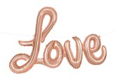 "Rose Gold Love Script 14"" x 36"" Foil Balloon Letter Banner"