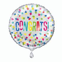 """Congrats! Colourful 18"""" Foil Balloon"""