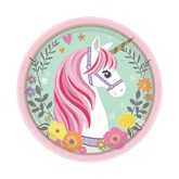 Magical Unicorn 18cm Paper Plates 8pk