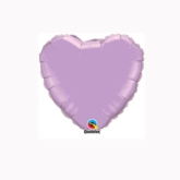 "Pearl Lavender 4"" Heart Foil Balloon"