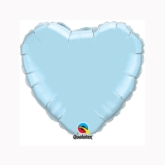 "Pearl Light Blue 9"" Heart Foil Balloon"