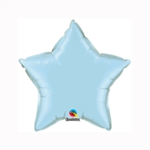 "Pearl Light Blue 9"" Star Foil Balloon"