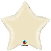 "Pearl Ivory 20"" Star Foil Balloon"