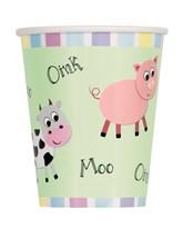 Farmyard Party 9oz Paper Cups 12pk