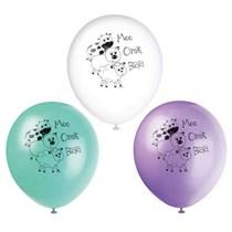 Farmyard Animals Party Latex Balloons 8 Pack