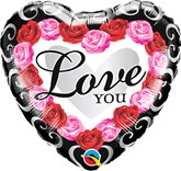 "Love You Rose Frame 18"" Foil Balloon"