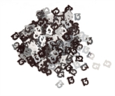 Black/Silver Glitz 13th Birthday Foil Confetti 14g