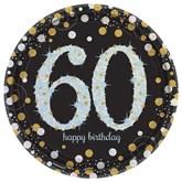 Gold Celebration 60th Birthday Paper Plates 8pk