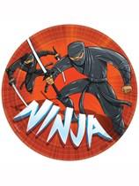 Ninja Party Paper Plates 8pk