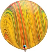 "Traditional SuperAgate 30"" (2.5ft) Latex Balloons 2pk"