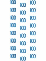 Blue Glitz 100th Birthday Hanging Decorations 6pk