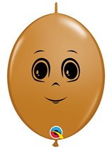 "Masculine Face Mocha Brown 12"" Quicklink Latex 50pk"