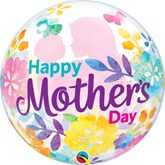 """Mother's Day Silhouette 22"""" Bubble Balloon"""