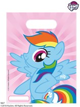 My Little Pony Plastic Party Bags 6pk