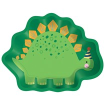 Dinosaur Shaped 22cm Party Plates 8pk