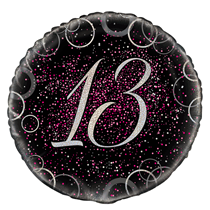 "Pink Glitz 13th Birthday 18"" Foil Balloon"