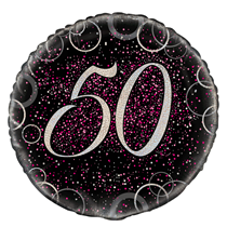 "Pink Glitz 50th Birthday 18"" Foil Balloon"