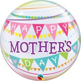 """Mother's Day Pennants 22"""" Bubble Balloon"""